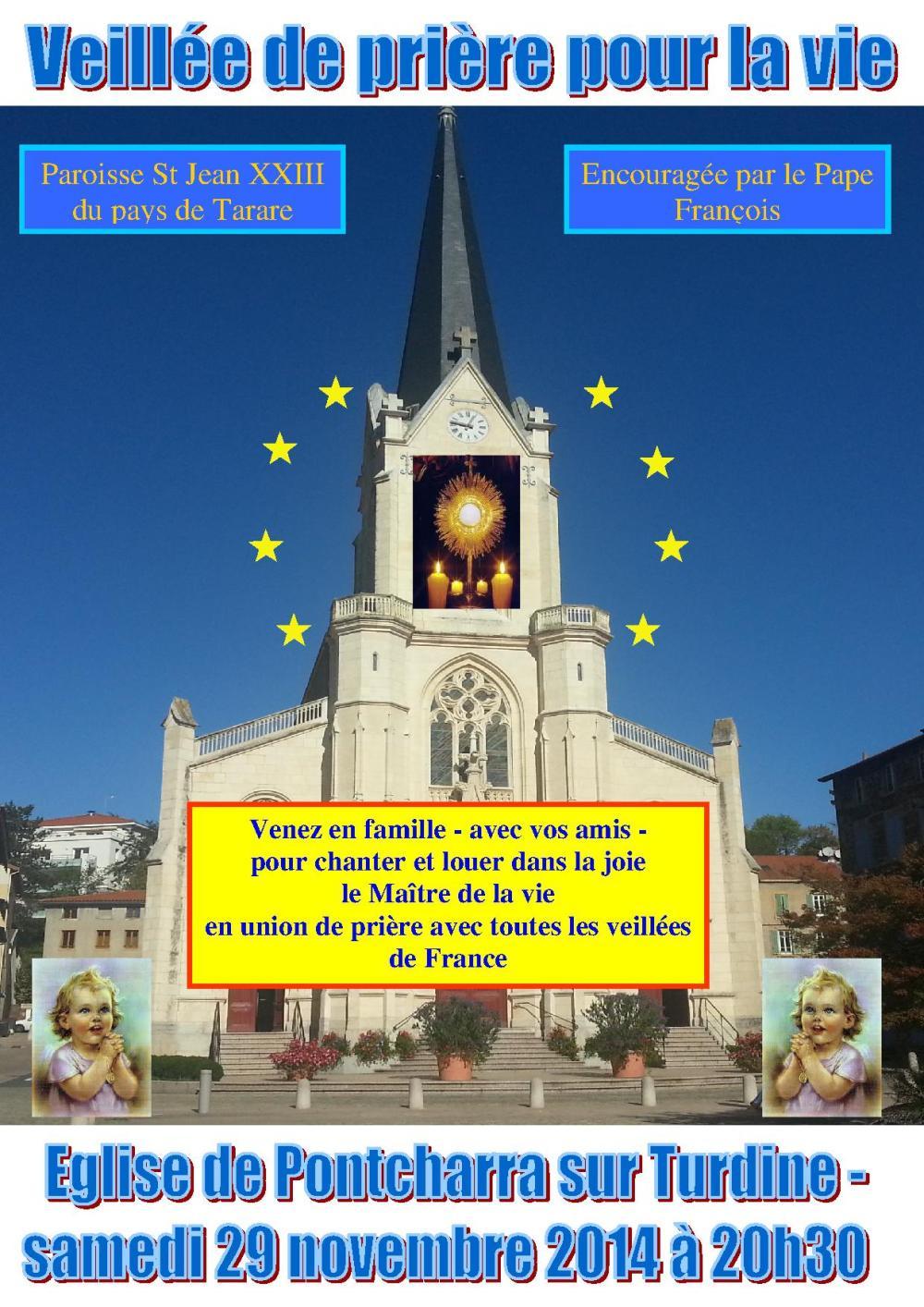 affiche veillée de prière 29 novembre 2014