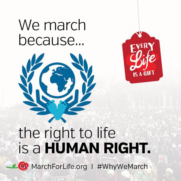 We march because