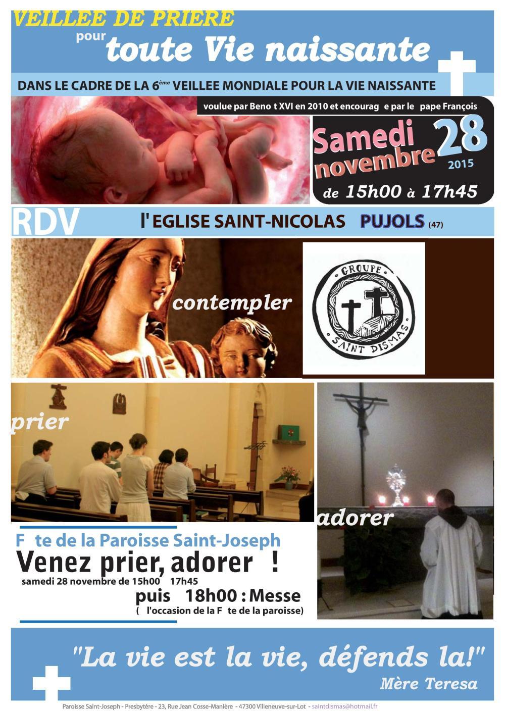 Affichette Veillée pour la Vie Naissante - 2015-page-001