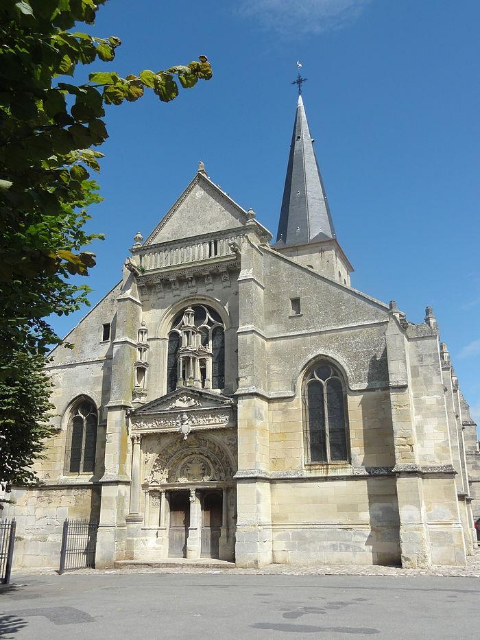 Belloy-en-France_(95),_église_Saint-Georges,_façade_sud-ouest