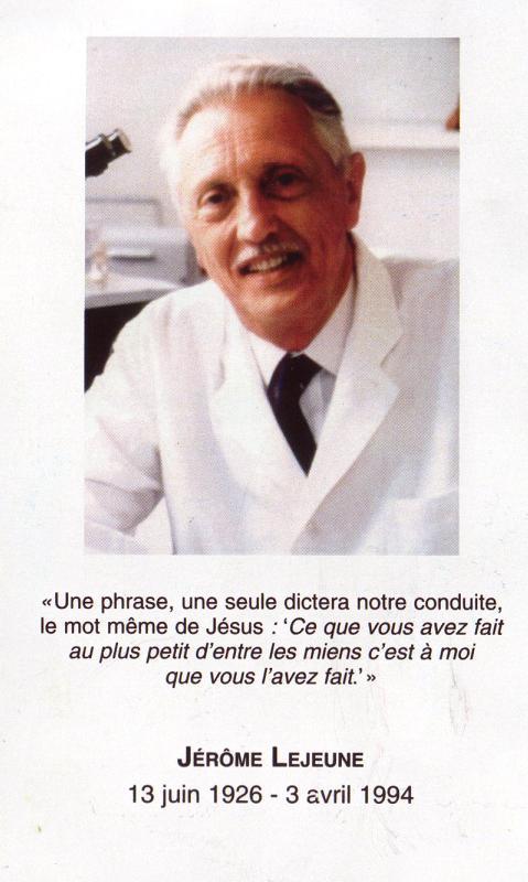 Jérôme Lejeune recto